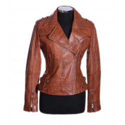 Womens Leather Jacket Lorette Brown