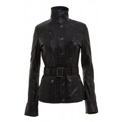 Womens Leather Jacket Pandora Black