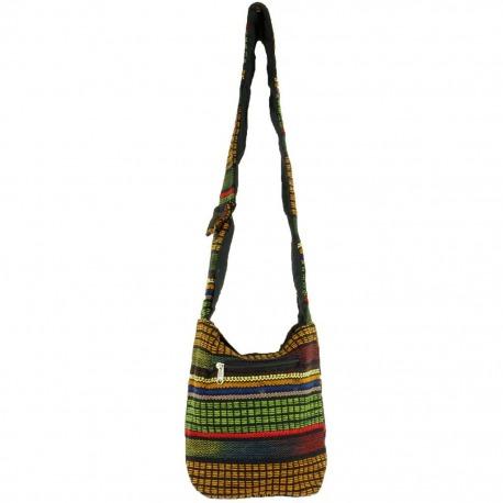 Womens canvas Shoulder Bag Green Sekki
