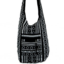 Womens Canvas Shoulder Bag Black Dyani